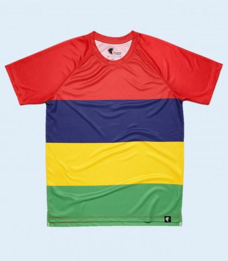 Camiseta Running Islas Mauricio. Hoopoe Running Apparel