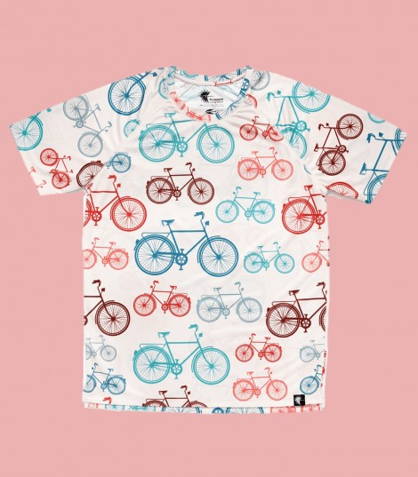 Camiseta Running bicicletas. Hoopoe Running Apparel