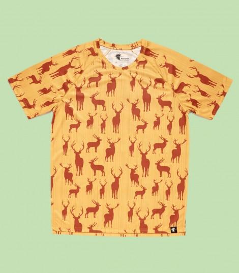 Camiseta Running ciervos. Hoopoe Running Apparel