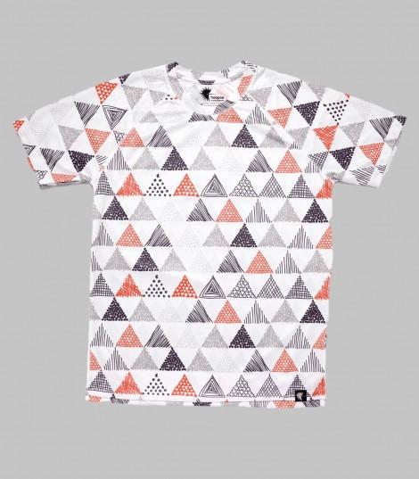camiseta running niños triangulos triangles Hoopoe Running Apparel
