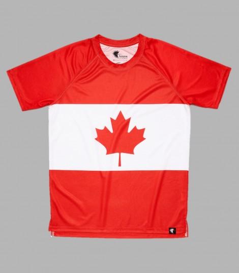 Camiseta running #MapleLeaf Canadá niños Hoopoerunning