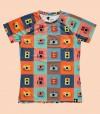 camiseta running mujer camaras coloridas Hoopoe Running Apparel