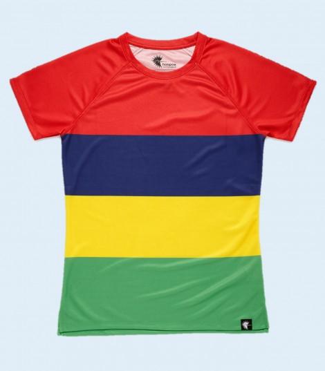 camiseta running mujer isla mauricio Hoopoe Running Apparel