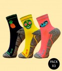 Trail Running Socks - Pack 3 Mix