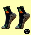Pineapple Trail Running Socks - Pack 2
