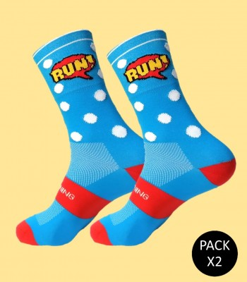 Comic Running Socks -...