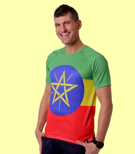 Camiseta Etiopía. Hoopoe Running Apparel