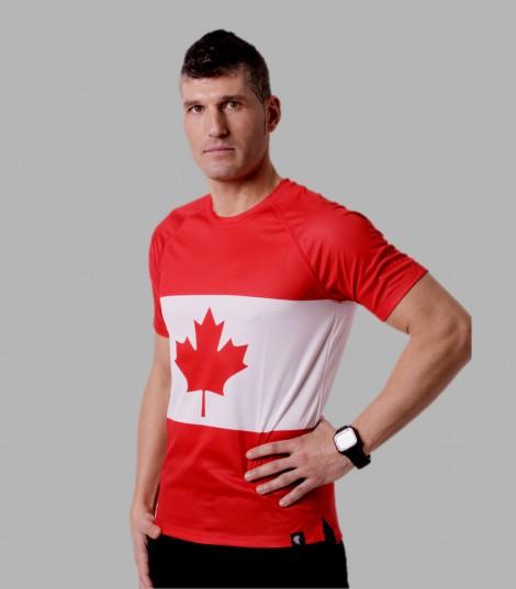 Camiseta Running Canadá. Hoopoe Running Apparel