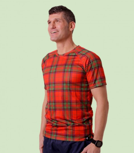 Camiseta Running Escocia. Hoopoe Running Apparel