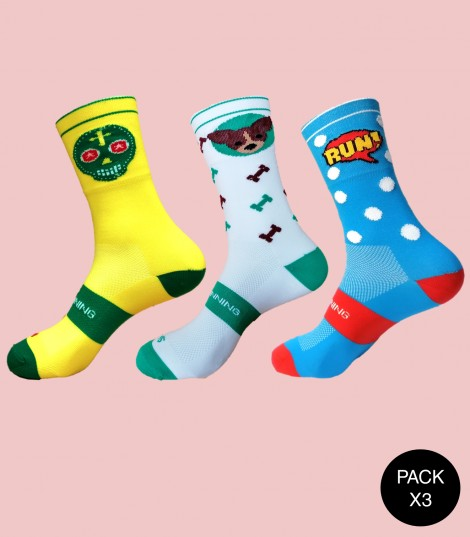 Calcetines Running Pack Mix 3
