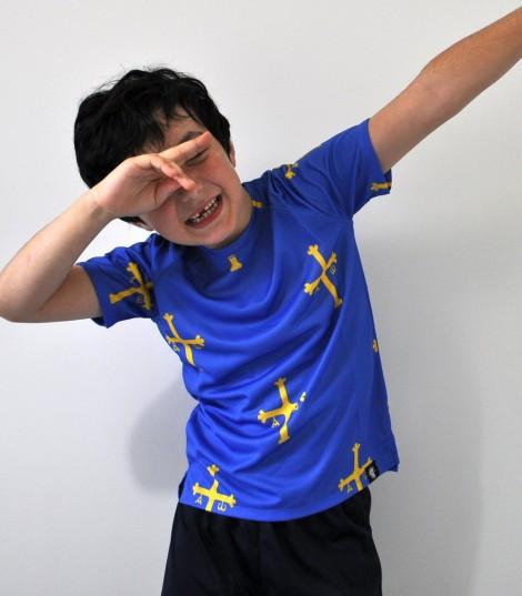 Camiseta running niño Asturias patria querida Hoopoe Running Apparel