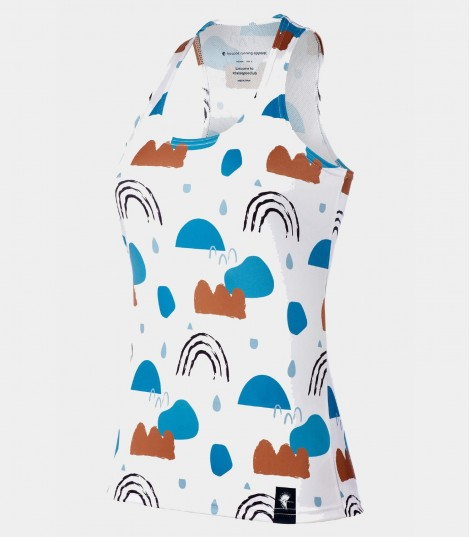 Camiseta running tirantes rainy days Hoopoe Running Apparel