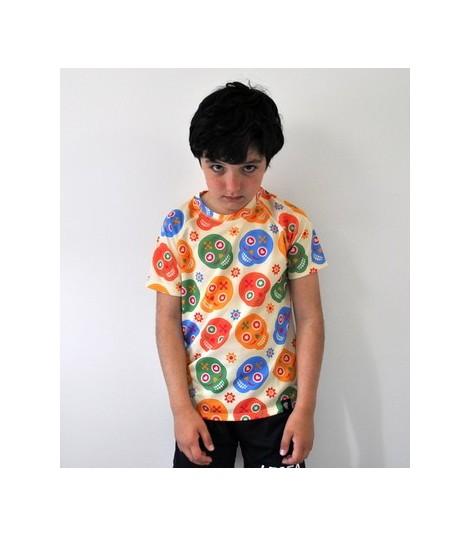 Camiseta running niño Skully Hoopoe Running Apparel