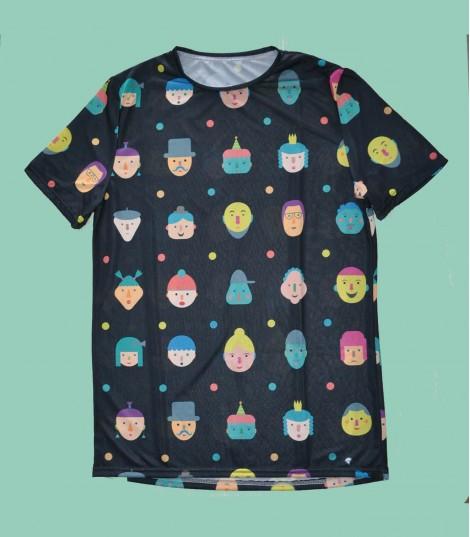Camiseta running faces Hoopoe Running Apparel