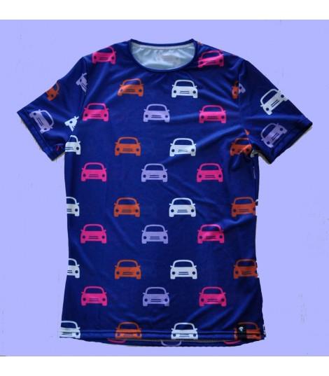 Camiseta cars mujer. Hoopoe Running Apparel