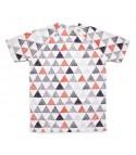 Camiseta Triángulos. Hoopoe Running Apparel