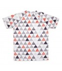 camiseta running hombre triangulos triangles Hoopoe Running Apparel