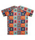 camiseta running hombre camaras coloridas Hoopoe Running Apparel